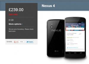Nexus 4 isparduotas