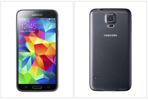 Galaxy S5 priekis ir galas