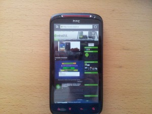 HTC Sensation XE Screen