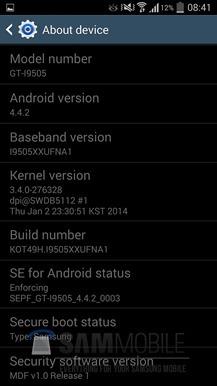 Samsung Galaxy S4 Kitkat1